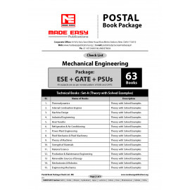 Mechanical Engineering Postel Study Package Original Books- 2017: For ESE, GATE & PSUs (Set Of Books-63 Made Easy)