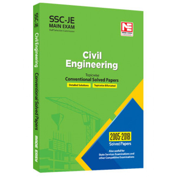 SSC JE Mains: Civil Enginering  Conv. Solved Papers  (Made Easy)