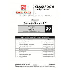 Computre Science Engineering Classroom Study Package - 2019-2020 : for  GATE  (Set of Books-20 Made Easy)