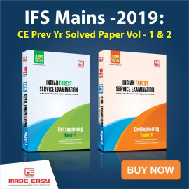IFS Mains -2019: Civil Engineering  Previous  Year Solved Paper Vol- 1 ,Vol- 2 MADE EASY