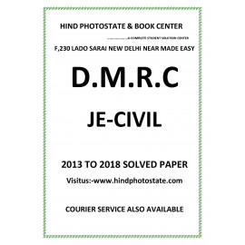 DMRC Junior Engineer Civil  Engineering Previous Years' Solved Papers ( 2013 - 2018 )