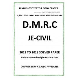 DMRC Junior Engineer Civil  Engineering Previous Years' Solved Papers ( 2013 - 2018 )