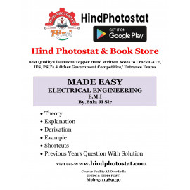 Electrical Engineering Handwritten Notes Electrical Measurement Instrumentation BY-Balaji Sir MADE EASY