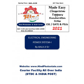 Electrical Engineering Handwritten  Notes :   Power System-i  BY-Balaji  Sir (Made Easy )