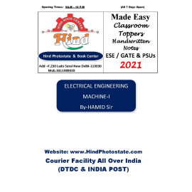 Electrical Engineering Handwritten Notes : Machine -i  BY-Hamid Sir  (Made Easy )