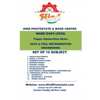 Instrumention  Engineering Hand Written Notes :   ( GATE &PSUs )  - (Set of 12 Subjects)      Made Easy