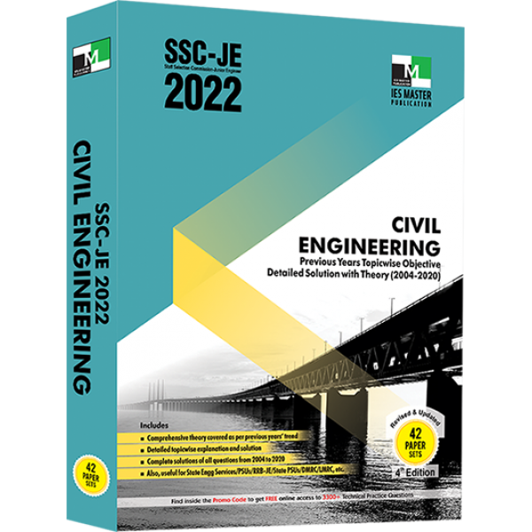 SSC-JE 2022 CIVIL ENGINEERING PREVIOUS YEARS TOPICWISE OBJECTIVE DETAILED SOLUTION WITH THEORY IES MASTER