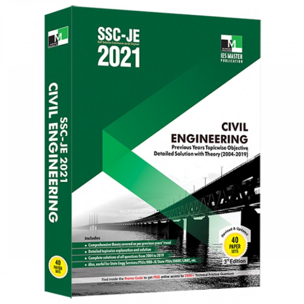 SSC-JE 2021 CIVIL ENGINEERING PREVIOUS YEARS TOPICWISE OBJECTIVE DETAILED SOLUTION WITH THEORY (Ies Master )