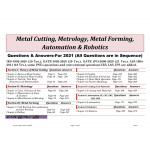 2021 Metal Cutting, Metrology, Forming, Automation, Rootics by S K Mondal