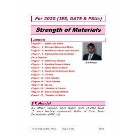 Strength of Materials 2020 Printed Material by S K Mondal