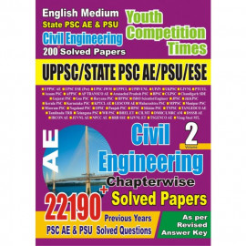 UPPSC AE Civil Engineering Chapter-wise Solved Papers Exam Planner vol 2 YCT PUB