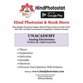 Unacademy Handwritten Notes Analog Electronics Written By-Ankit Goyal Sir