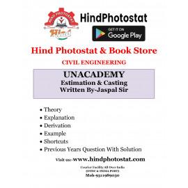 Unacademy Handwritten Notes Estimation Casting Written By-Jaspal Sir [CIVIL]