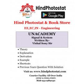 Unacademy Handwritten Notes Signal System Written By-Vishal Soni Sir
